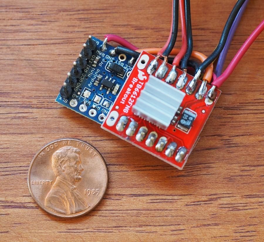 A Miniature Robot Control System