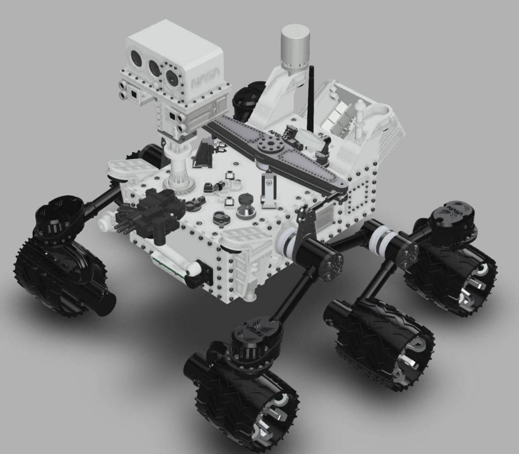 CURIOSITY MARS ROVER - OUR FUSION 360 CAD MODEL