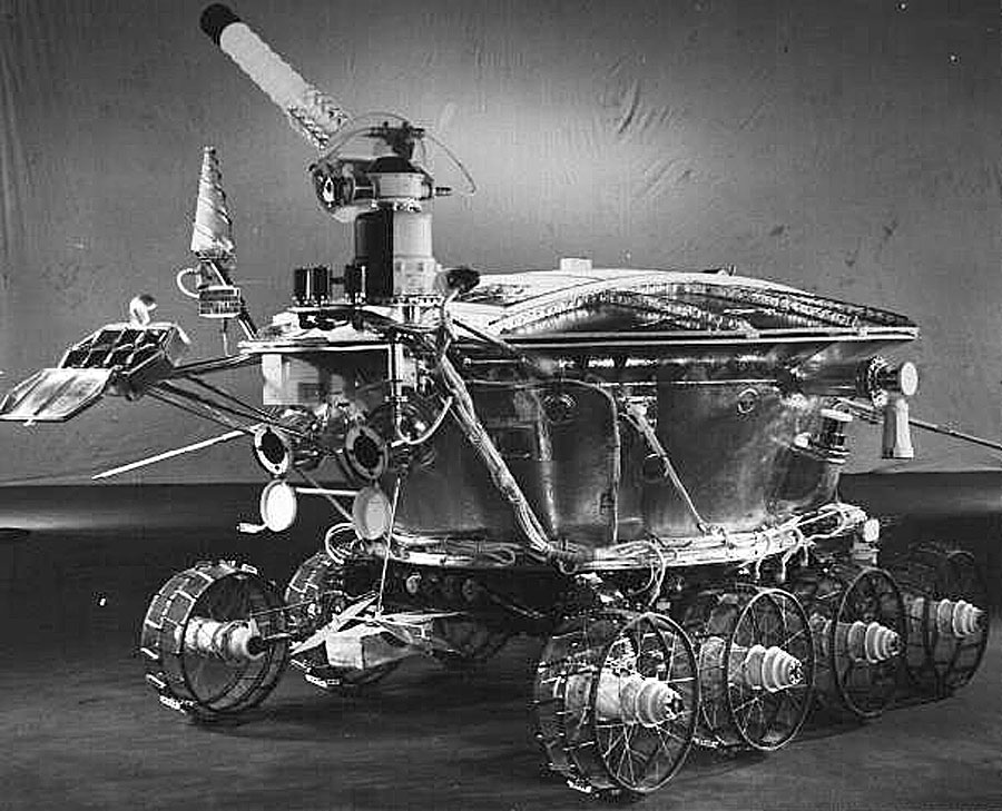 A photograph of the real Lunokhod robot