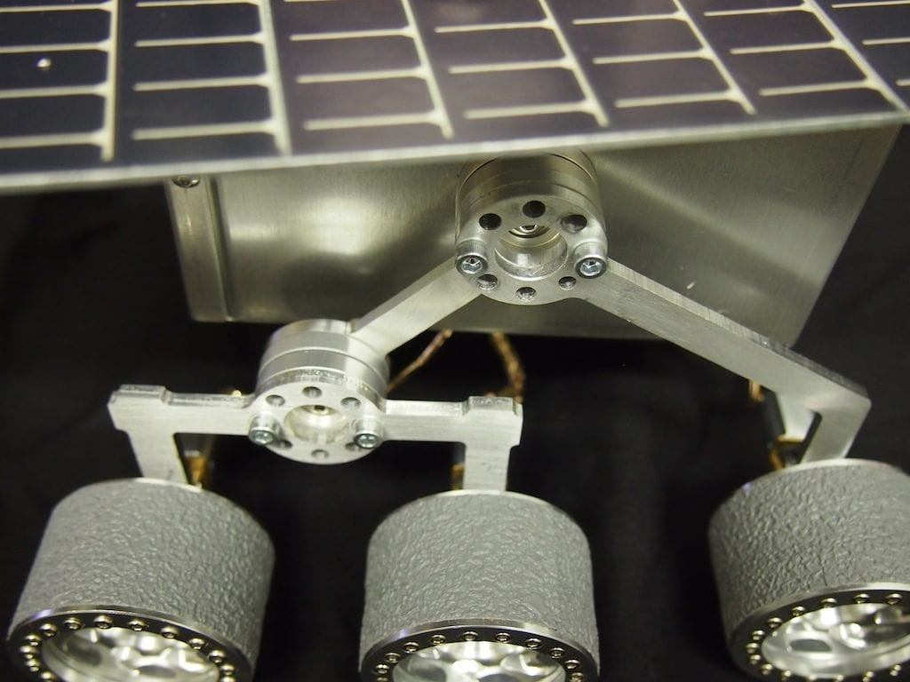 Mini Mars Rover – Rocker-Bogie Suspension System Close Up