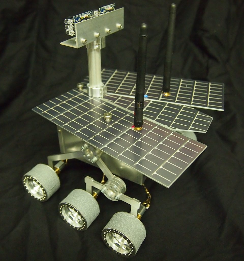 Mini Mars Rover – Top Rear View