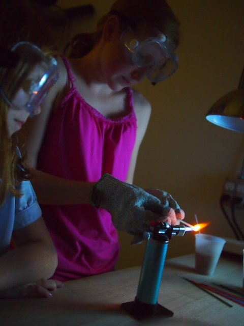 Working on glass