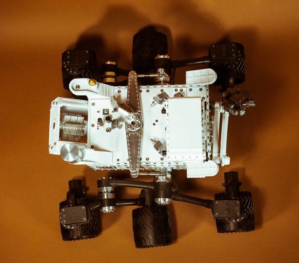 CURIOSITY MARS ROVER - Top View